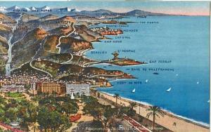 Nice, Panorama de Nice, early 1900s unused Postcard CPA