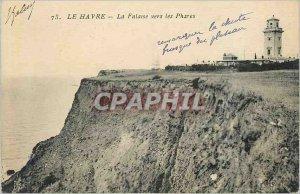 Postcard 73 Old Harbor cliff towards the headlights