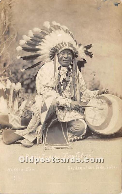 Pueblo Indian Jose Tafoya Hidden Inn, Garden of the Gods, Colorado, CO, USA 1927
