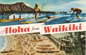 Greetings Aloha From Hawaii Surfing