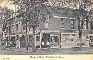 Winchendon MA Durgans Block Pharmacy Cigar Ad Poster Postcard