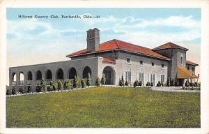 Bartlesville Oklahoma~Hillcrest Country Club~1920s Postcard