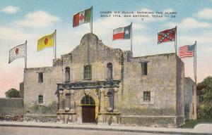 SAN ANTONIO , Texas, 1930-40s ; Under Six Flags, Showing The Alamo