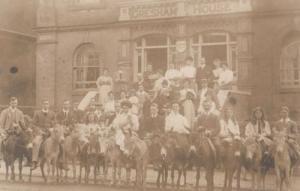 Gresham House Road Cambridge Donkey Parade Antique Real Photo Cambridge Postcard