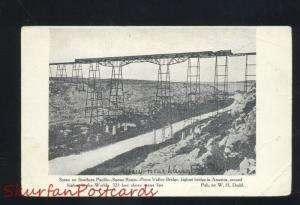 SOUTHERN PACIFIC SUNSET ROUTE PECOS VALLEY RAILROAD TRAIN BRIDGE OLD POSTCARD