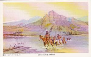 Crossing The Missouri Cowboy Artist Charles M Russell