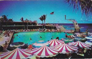 Swimming Pool At Sherry Frontenac Miami Beach Florida 1952