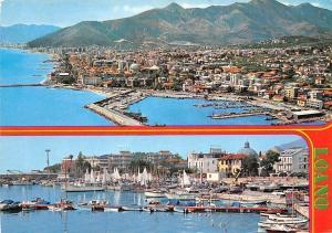 Italy Loano Port Bateaux Panorama, Harbour Boats General view