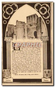 Old Postcard Loches castle