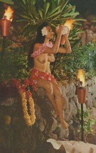 A Lovely Nude South Sea Island Maiden Polynesian Paradise Tahiti Postcard
