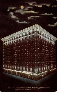 Colorado Denver Gas and Electric Building At Night