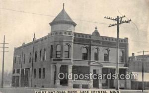 First National Bank Lake Crystal, Minn, USA Postcard Post Card Lake Crystal, ...