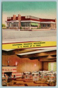 Indianapolis~Southern Triangle Restaurant~In & Out~US Road 67 & Tibbs~1950 Linen