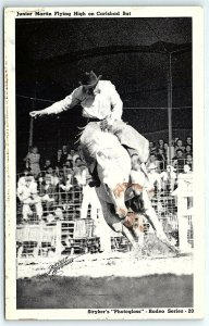 VTG Postcard Junior Martin Rodeo Horse Stryker's Photogloss Cowboy Texas TX A5