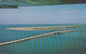 North Carolina Outer Banks Herbert C Bonner Bridge Spanning Oregon Inlet 1965