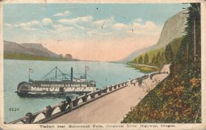 USA - Viaduct near Multnomah Falls Columbia River Highway Oregon 01.91