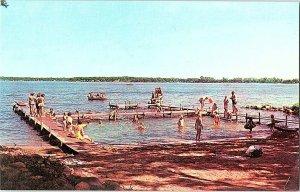 Walther League Camp Landing Lake Okoboji IA Vintage Postcard Standard View Card