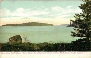 c1907 Postcard; Reef & Jones Islands, Route to Deer Harbor from Roche Harbor WA