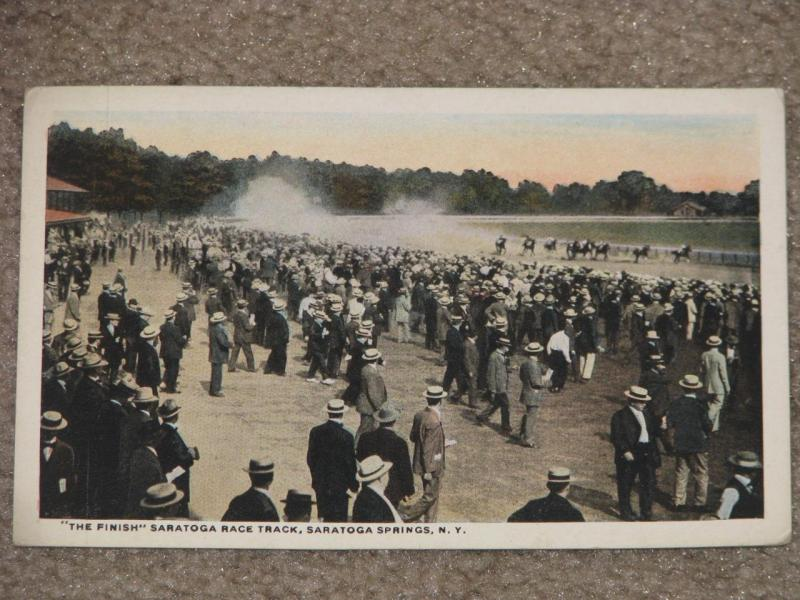 The Finish Saratoga Race Track, Saratoga Springs, N.Y., unused vintage card