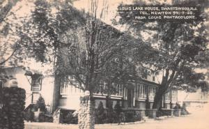 Louis Lake House, Swartswood, New Jersey, Early Postcard, Unused