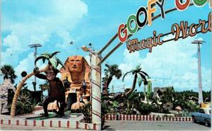 PANAMA CITY BEACH, Florida FL ~ GOOFY GOLF The Magic World ca 1960s  Postcard