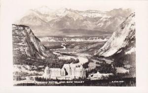 RP, Banff Springs Hotel & Bow Valley, Banff, Alberta, Canada, 1920-1940s