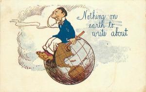Artist Impression Comic Humor Globe earth C-1910 Postcard 3117