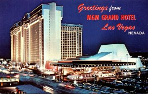 Nevada Las Vegas Greetings From The MGM Grand Hotel
