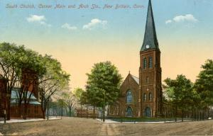 CT - New Britain. South Church, corner of Main & Arch Sts
