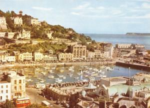 Vintage Giant Size Torquay Devon Postcard Torquay Harbour OS157