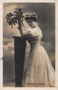 Pauline Chase, English Theater Actress, Early Real Photo Postcard, Used in 1906