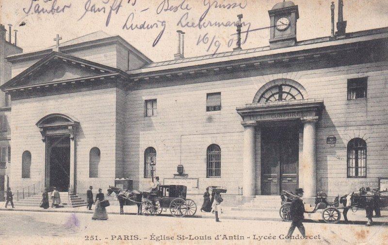 PARIS, France, PU-1902; Eglise St. Louis D'Antin, Lycee Condorcet