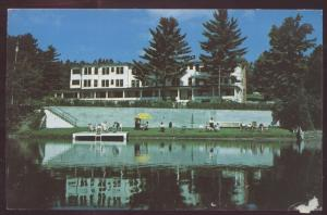 Lakeside LAKE PLACID Inn New York Beach Private Postcard