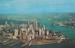 Aerial View Of Lower Manhatton New York City New York