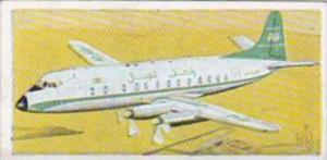 Lyons Trade Card Wings Across The World No 7 Vickers Armstrong Viscount U K