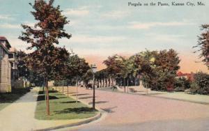 Missouri Kansas City Pergola On The Paseo 1910