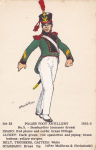 Private Foot Artillery Soldier BombardierPolish Army Soldier Napoleonic War...