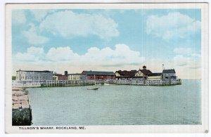 Rockland, Me, Tillson's Wharf