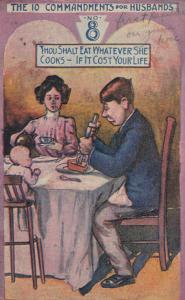 Comic: PU-1909; Thou Shalt Eat Whatever She Cooks - If it Cost Your Life