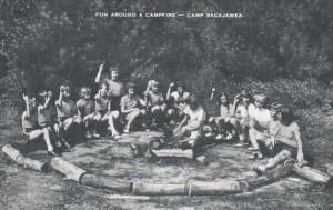 Fun Around A Campfire Camp Sacajawea Iowa Artvue