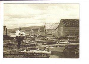 19th Century Margaree Valley, Cape Breton Nova Scotia, Dock, Boats