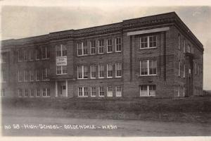 Goldendale Washington High School Real Photo Antique Postcard K38026