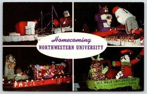 Evanston Illinois~Northwestern University~Homecoming Parade~4 Views~1950s