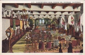 California Riverside Cloister Music Room Mission Inn