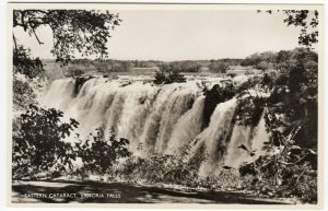 Zambia; Eastern Cataract, Victoria Falls, 103 RP PPC, By Salmon, Unused, c 30's
