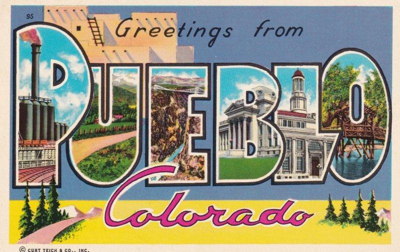 LARGE LETTER, PUEBLO, Colorado, 1950-1960's