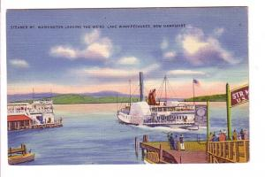 Steamer Mt Washington Leaving Weir Lake Winnipesaukee, New Hampshire