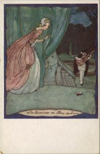 PC CPA RIE CRAMER ARTIST SIGNED LA SERENADE AU CLAIN Vintage Postcard (b27517)