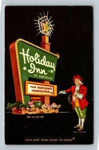 Leominster MA, Holiday Inn, Chrome Massachusetts c1966 Postcard