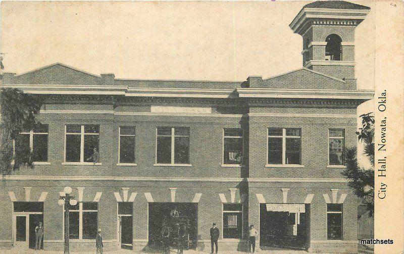 C-1910 City Hall Nowata Oklahoma Model Variety Postcard 11622